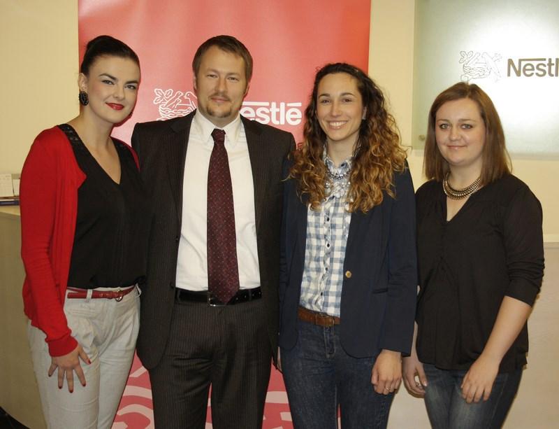 David Gaal, voditelj ljudskih potencijala tvrtke Nestlé Adriatic i pripravnice u marketingu
