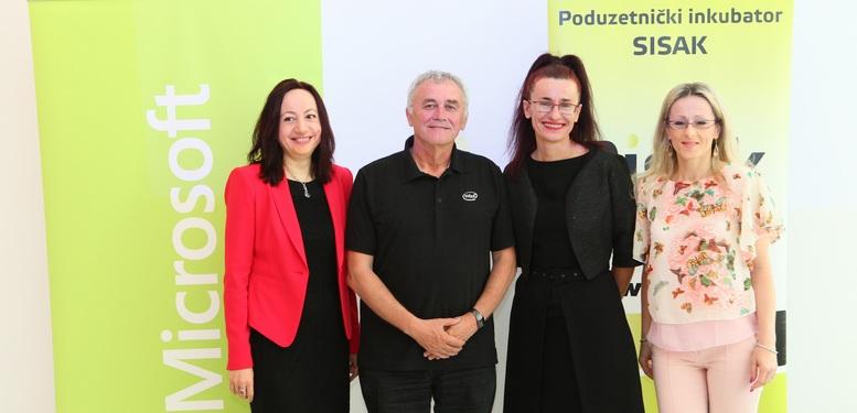 L Zukic Krivdic Microsoft Darko Sertic vlasnik PISAK-a K. Kosina Milutinovic voditeljica PISAK-a -res