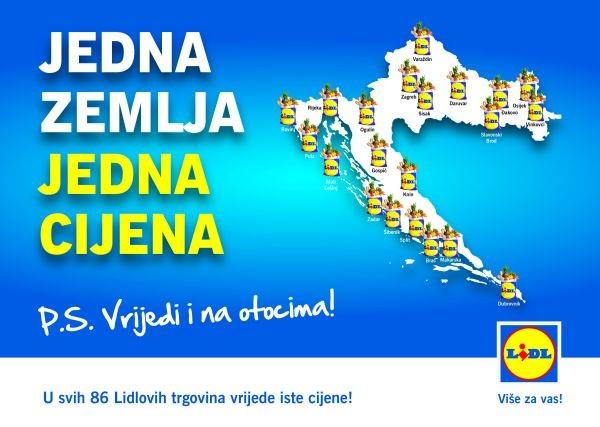 Lidl Hrvatska_Jedna zemlja, jedna cijena