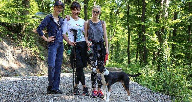 Na Sljemenski izazov su se odazvale i glumice Krisitna Krepela i Petra Kurtela koje su uzivale u drustvu Asje Petersen