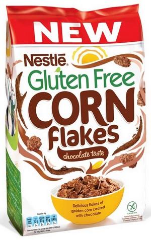 Nestlé Corn Flakes s okusom cokolade - bez glutena