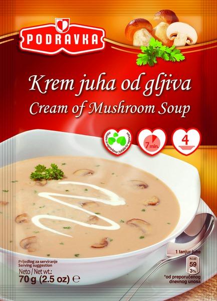 Cream of mushroom soup krem juha PODRAVKA 70g