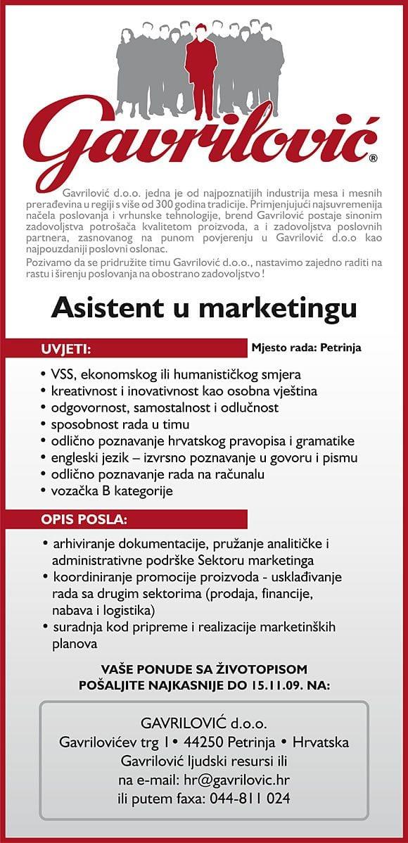 gavrilovic-oglas1